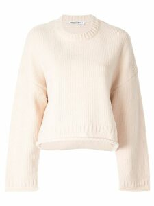 T By Alexander Wang oversized cropped jumper - Brown