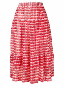 Comme Des Garçons Comme Des Garçons geometric print skirt - Red