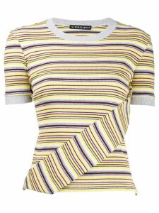Y/Project striped ribbed T-shirt - Yellow