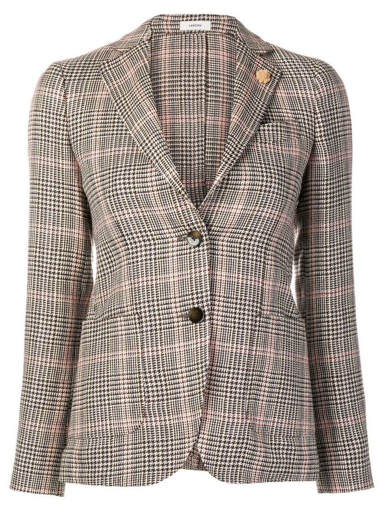 Lardini checked blazer - Brown