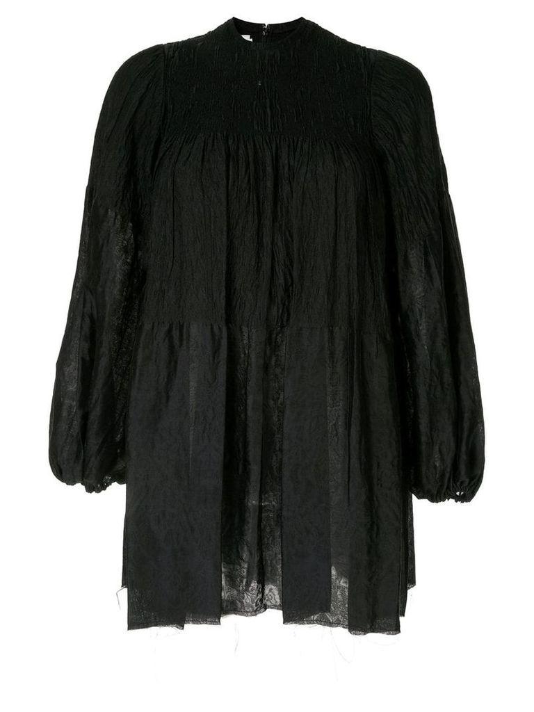 Marques'Almeida oversized puff sleeve shirt - Black