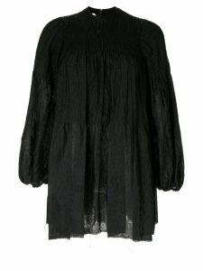Marques'Almeida oversized puff sleeve shirt - Black