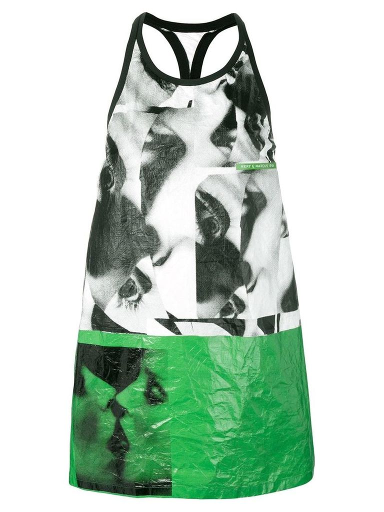 Dsquared2 X Mert and Marcus printed dress - White