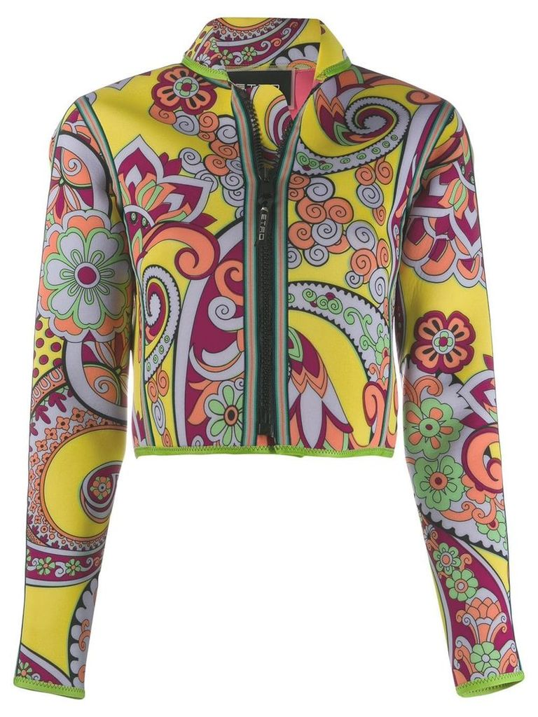 Etro printed cropped jacket - Multicolour