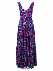 Borgo De Nor floral print maxi dress - Blue