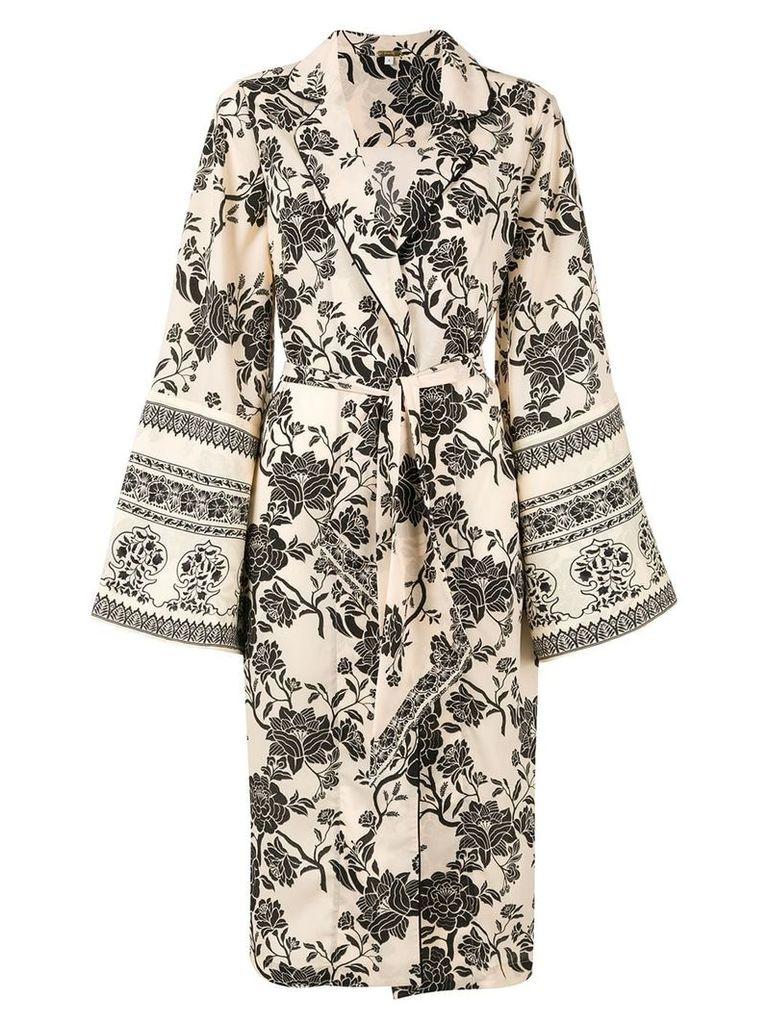 Johanna Ortiz kimono coat - White