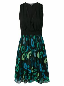 Just Cavalli macro-print dress - Black