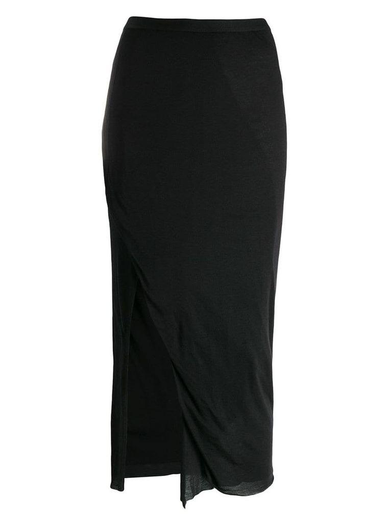 Rick Owens Lilies side slit pencil skirt - Black