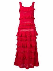 Twin-Set layered maxi dress