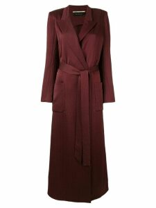Roland Mouret Heathcoat hammered silk coat