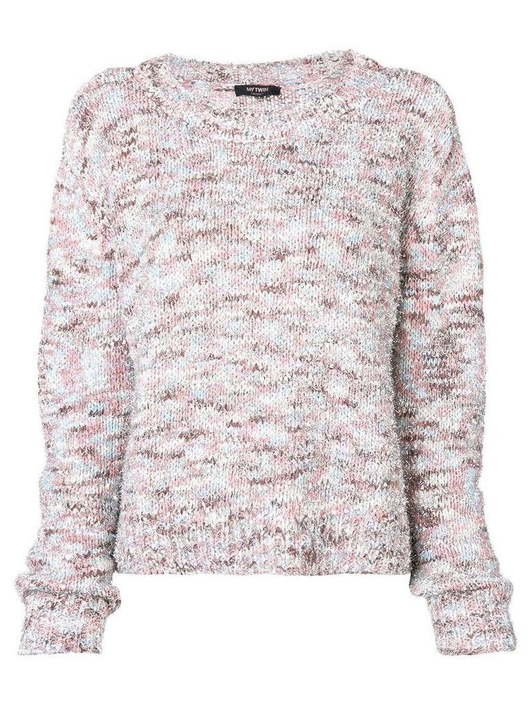 Twin-Set chunky knit jumper - Neutrals