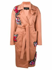 Rochas embroidered trench coat - Neutrals