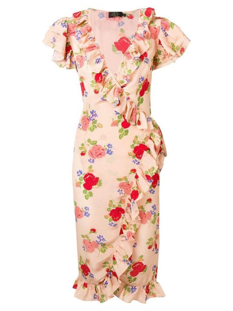 De La Vali floral print ruffle dress - Pink
