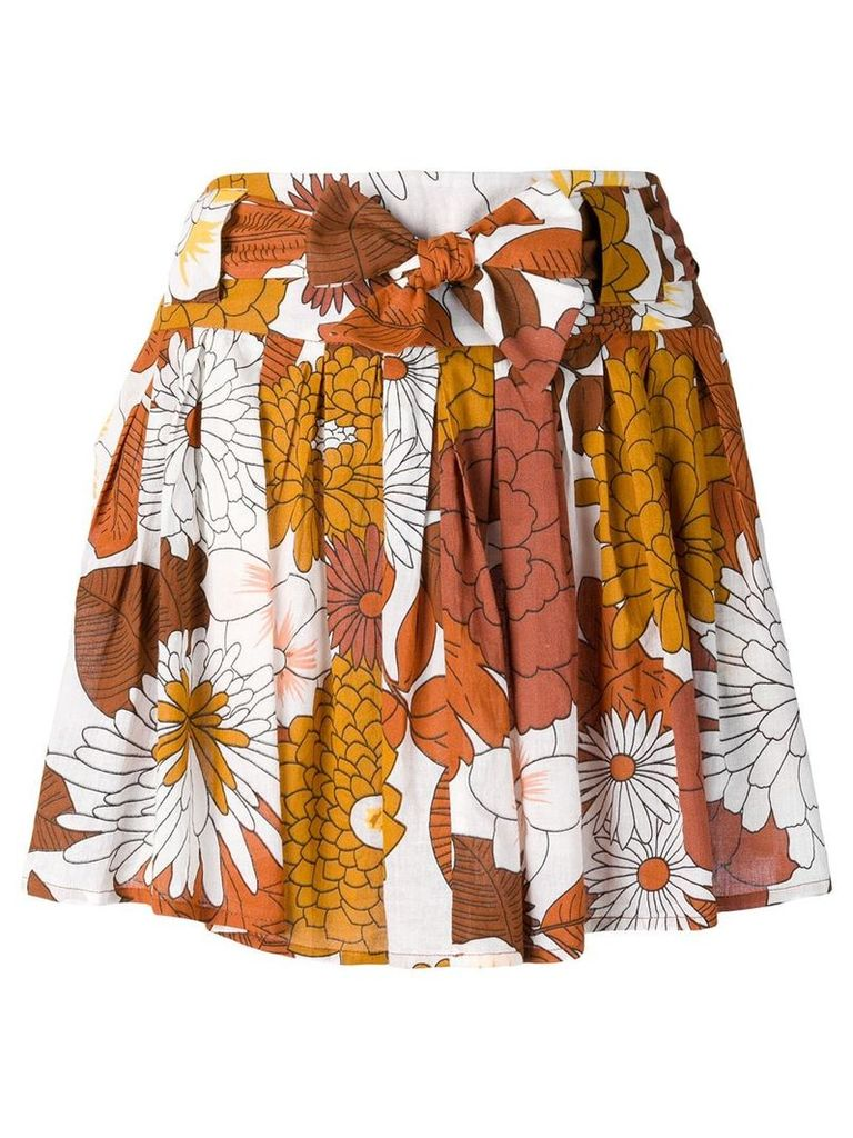 Dodo Bar Or floral-print skirt - Brown