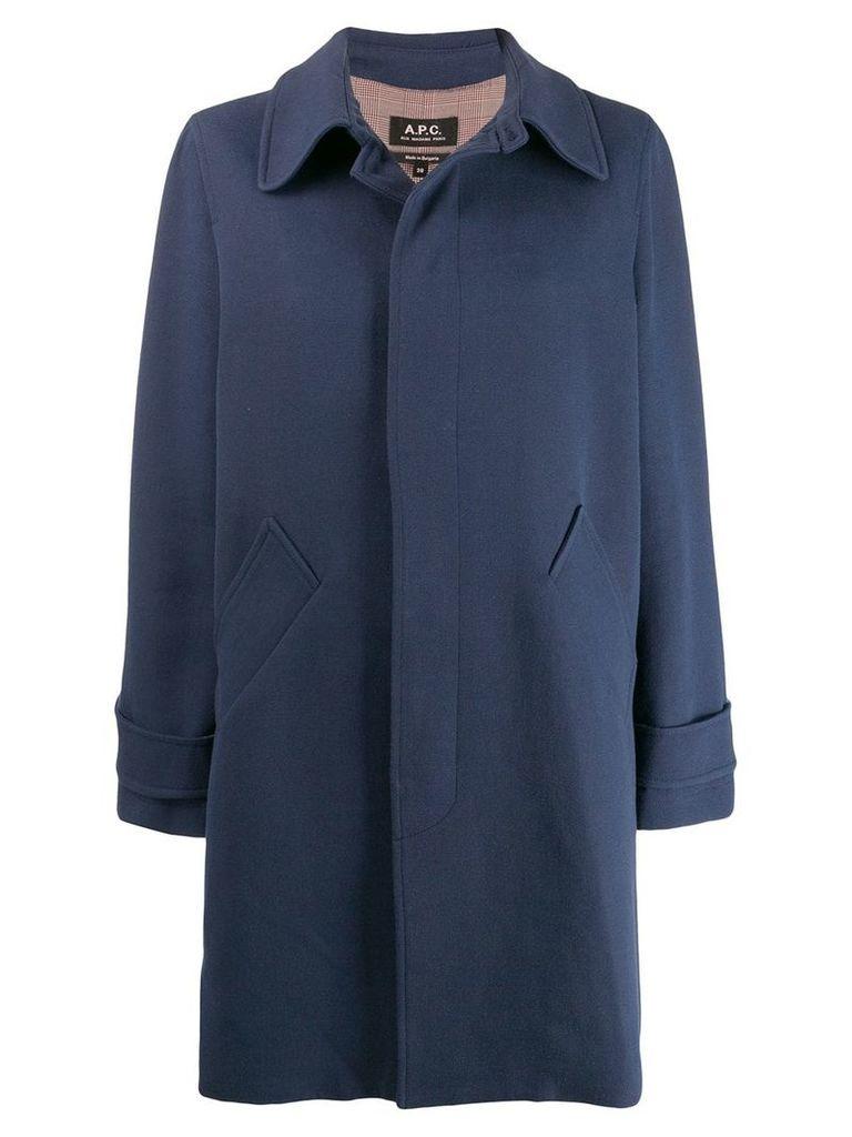 A.P.C. Macdinard coat - Blue