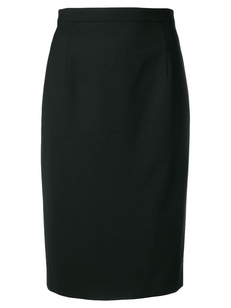 Theory fitted midi pencil skirt - Black
