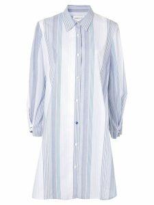 PortsPURE striped shirt dress - White