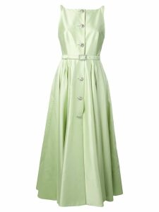 Alessandra Rich embellished button dress - Green