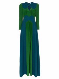 Givenchy high neck cutout detail two tone maxi dress - Blue