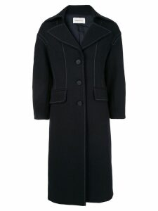 PortsPURE contrast stitching coat - Blue