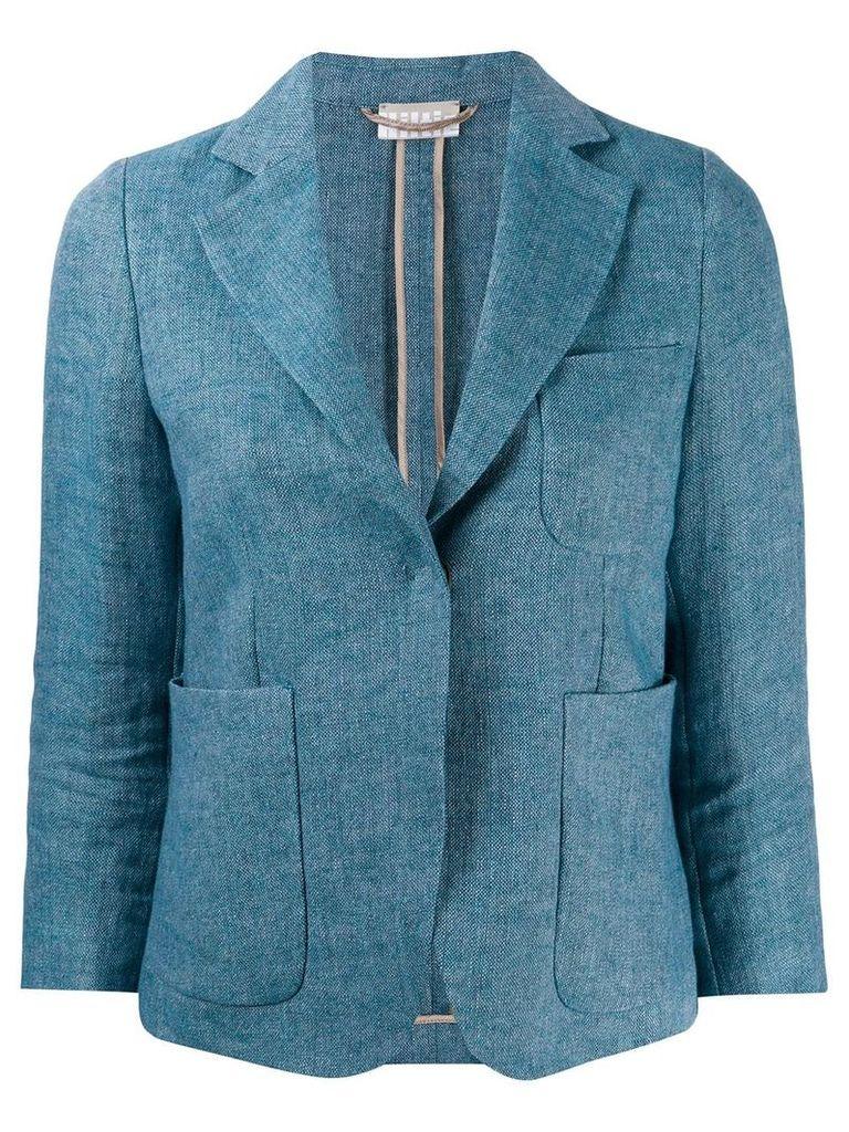 Kiltie slit cuffs blazer - Blue
