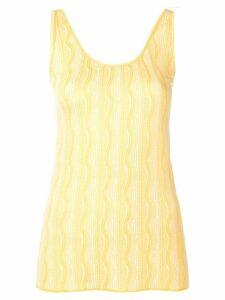 Etro wave pattern vest top - Yellow