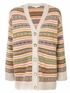 Stella McCartney intarsia cardigan - Multicolour
