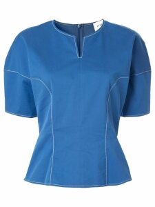 PortsPURE contrast stitching top - Blue