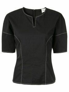 PortsPURE contrast stitching top - Black