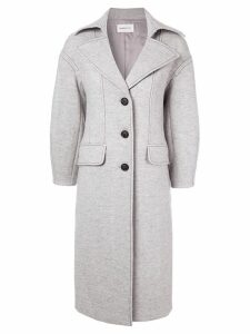 PortsPURE contrast stitching coat - Grey