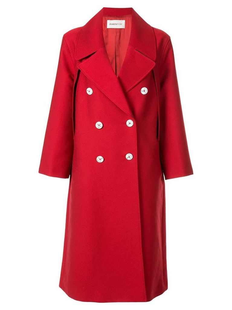 Ports Pure double-breasted coat - Red