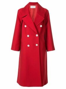 PortsPURE double-breasted coat - Red