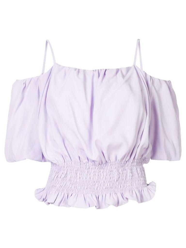 Portspure off-the-shoulder blouse - Purple