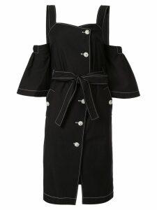 PortsPURE contrast stitching midi dress - Black
