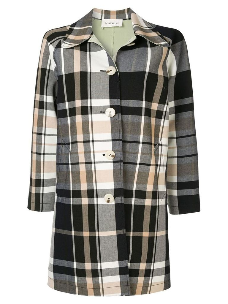 Ports Pure checked single-breasted coat - Multicolour