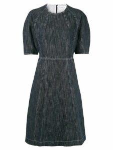 PortsPURE contrast stitching denim dress - Blue