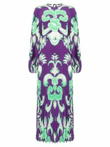 Valentino printed pleated maxi dress - PURPLE