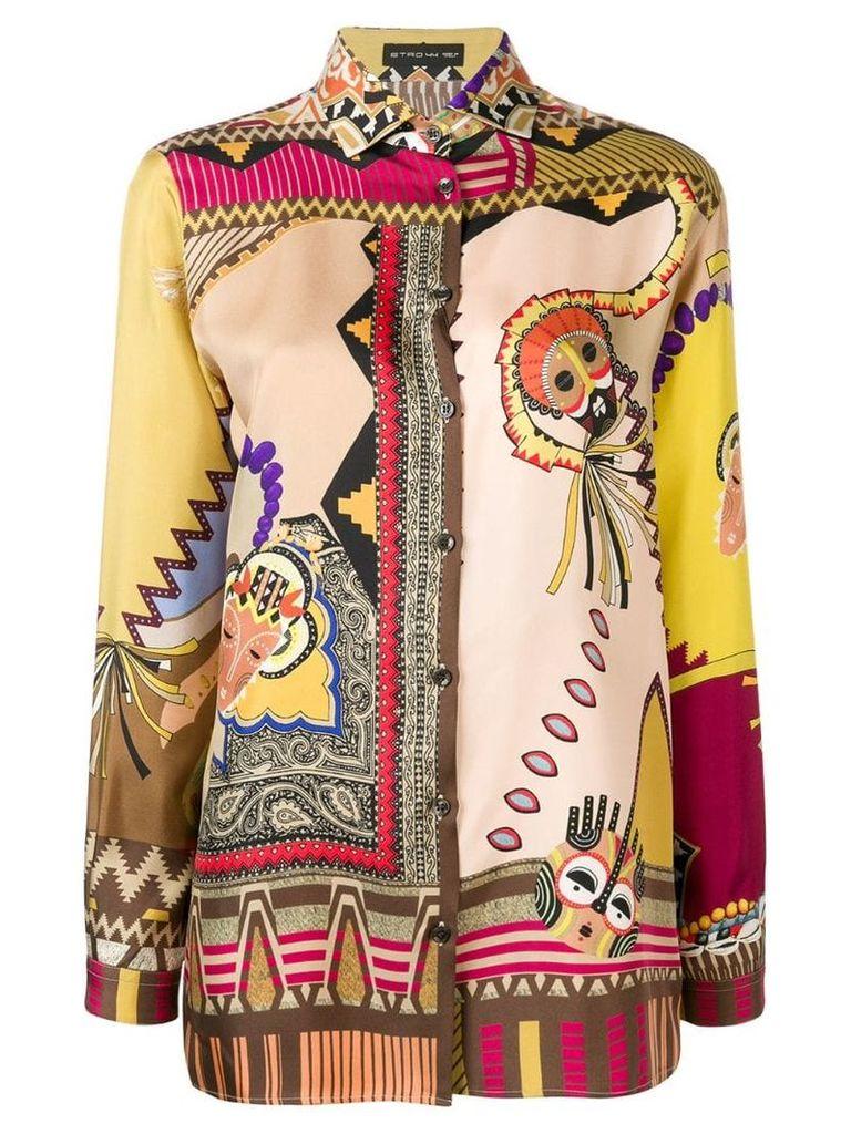 Etro Scarf-print shirt - Multicolour