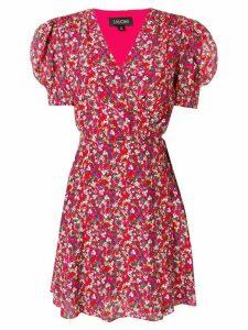 Saloni poppyfield wrap mini dress - Pink