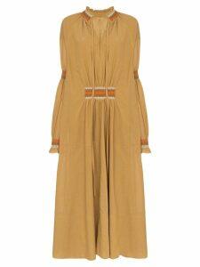 Loewe high-neck maxi dress - Brown