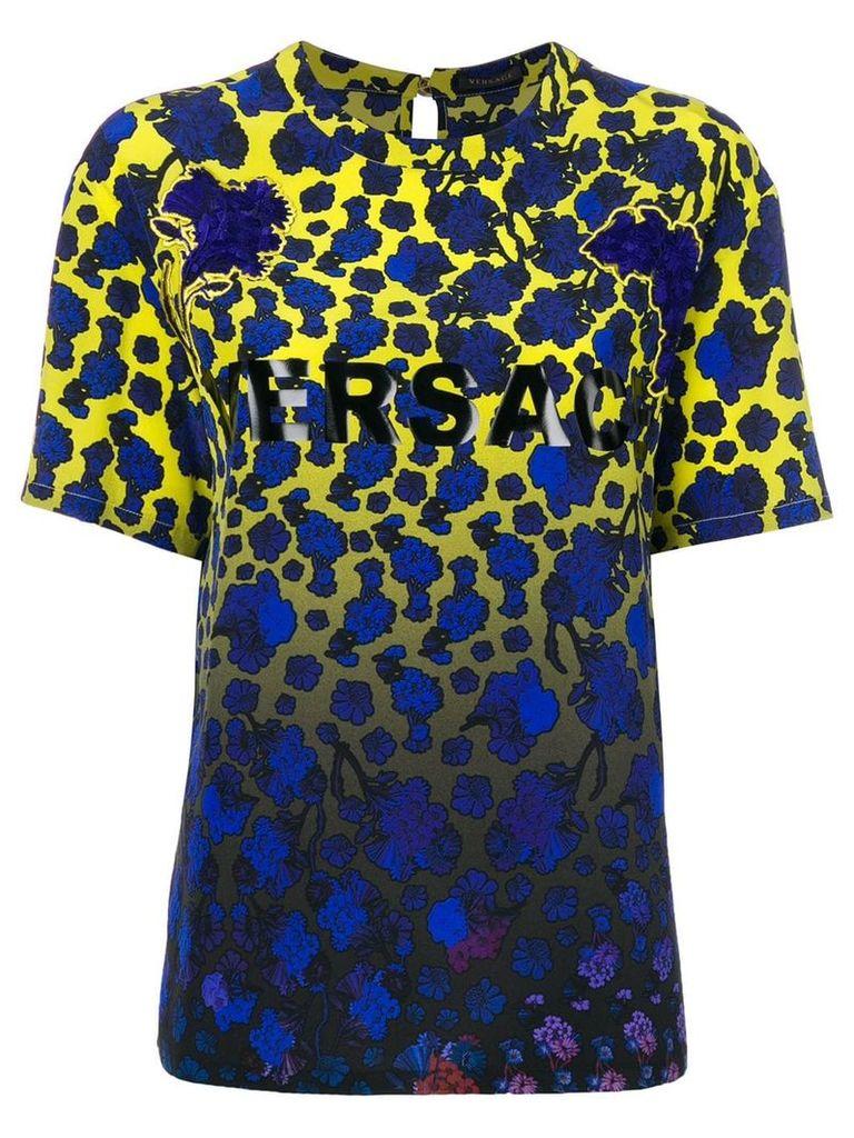 Versace Flower Dégradé print T-shirt - Multicolour