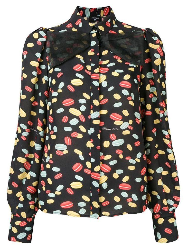 Elisabetta Franchi macaron print shirt - Black