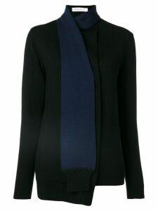 Victoria Victoria Beckham scarf wrap jumper - Black