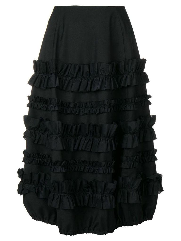 Comme Des Garçons Noir Kei Ninomiya ruffle panel skirt - Black