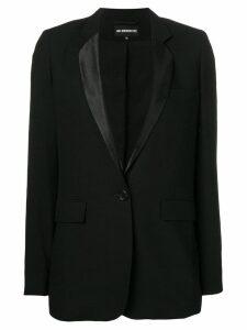 Ann Demeulemeester narrow lapels blazer - Black