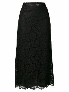 Valentino floral lace skirt - Black