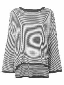 P.A.R.O.S.H. striped oversized jumper - Black