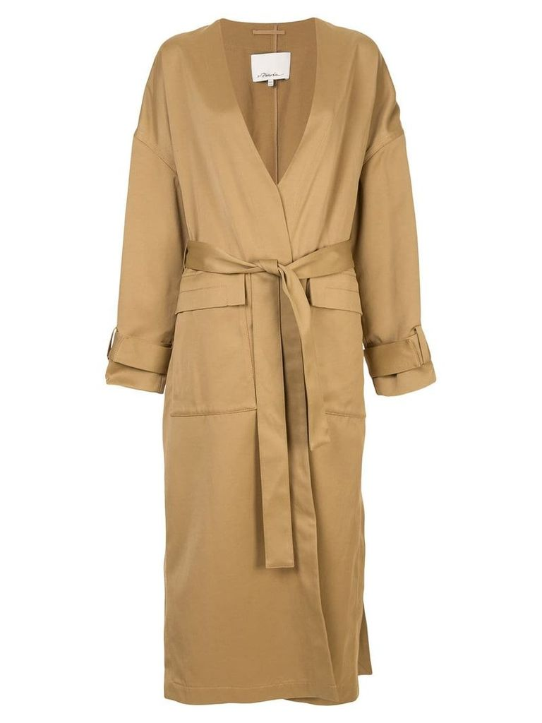 3.1 Phillip Lim belted trench coat - Brown