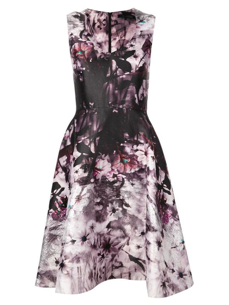 Rubin Singer A-line floral dress - Purple