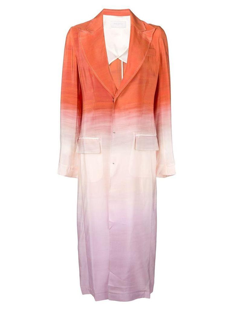 Esteban Cortazar gradient effect single breasted coat - Orange